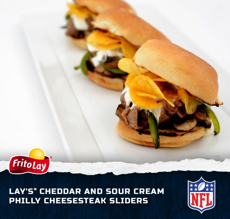 No matter where you live or who you root for, you can't go wrong with some Philly Cheesesteak Sliders. Yum! Enter our Fire Up for Football Sweeps for a chance to win a trip to the 2014 Pro Bowl in Hawaii http://contests.piqora.com/fritolay #FritoLayGameDay.  Official sweepstakes rules here: http://contests.piqora.com/contests/contest/content/fritolay.com/376/rulesSour Cream, Sliders Recipe, Fritolaygameday Recipe, Cream Sliders, Lay Cheddar, Frito Lay, Philly Cheesesteak, Cheesesteak Sliders, Cream Philly