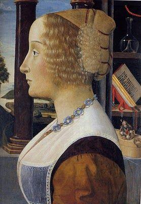 Attributed to Domenico Ghirlandaio, c. 1490 Portraits of  Women in Italian Renaissance Painting #TuscanyAgriturismoGiratola