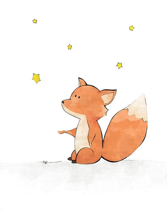 Fox pépinière Print Childrens Room Decor par LowerWoodlandStudio