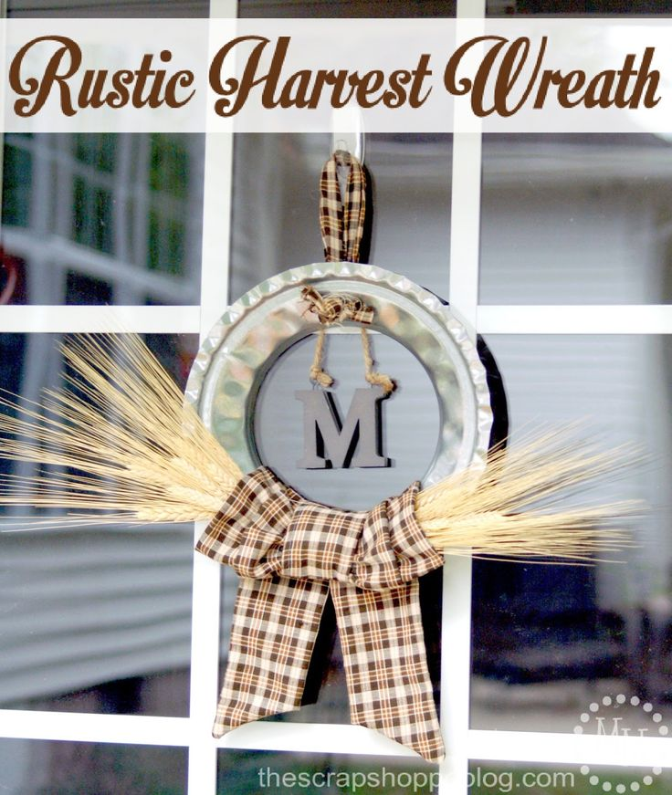 Rustic Harvest Wreath - The Scrap Shoppe