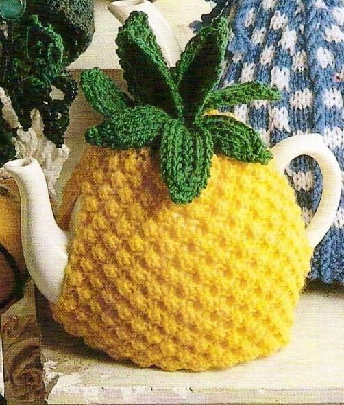 Tea pot  http://vintageknittedcouture.blogspot.jp/2010/12/pineapple-tea-cosy-vintage-knitting.html