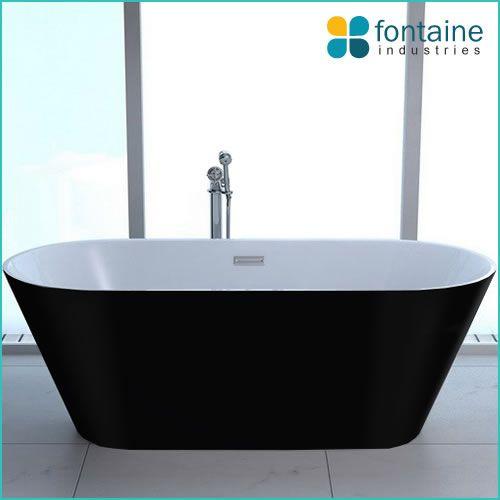 Monroe Freestanding Bath Black 1700- On sale $699  FONTAINE INDUSTRIES