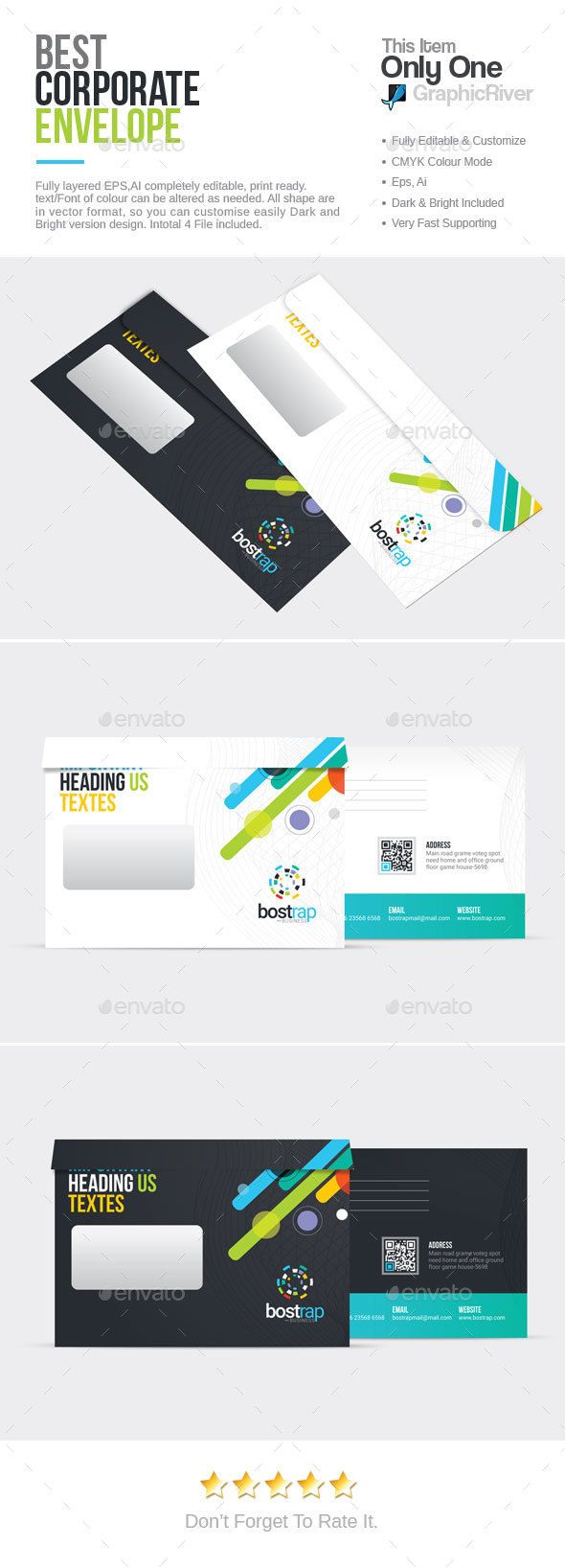 Bootstrap Corporate Envelope Packaging