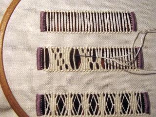 Nitka Czarodziejka: A robiło się to tak. - Hardanger embroidered bag. - Step-by-step instructions in Polish with clear photos.