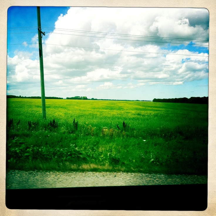 Driving to Steinbach Manitoba