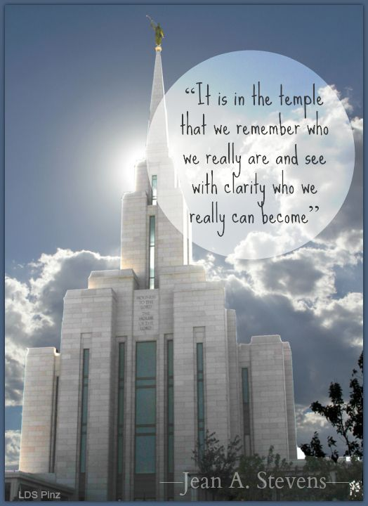 A great #ldsquote from Sister Jean A. Stevens on the #temple. Do you remember when Elder Bednar mentioned the media library on lds.org in his recent talk on social media? That is where I found the picture for this meme. #sharegoodness online today!