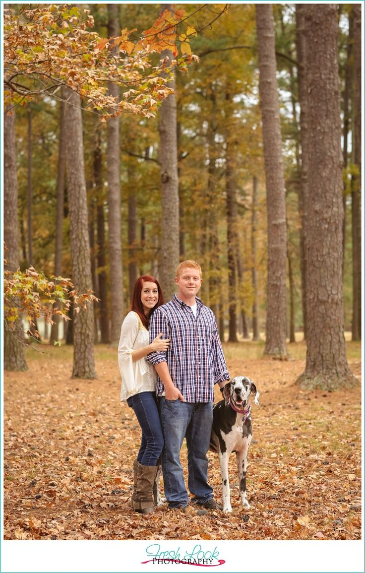 park date with the dog, couples photo shoot, Fresh Look Photography, fall photos, Stumpy Lake Natural Area, dogs are part of the family, love to love you, couple in love, great dane
