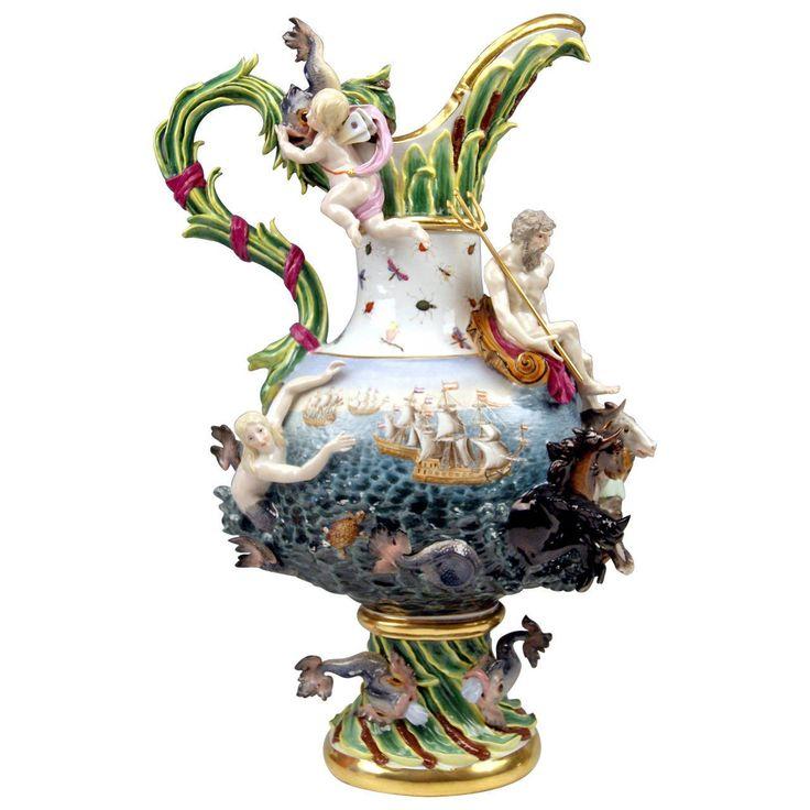Meissen Porcelain Huge Ewer Water by Kändler made 19th century For Sale  Century, Porcelain