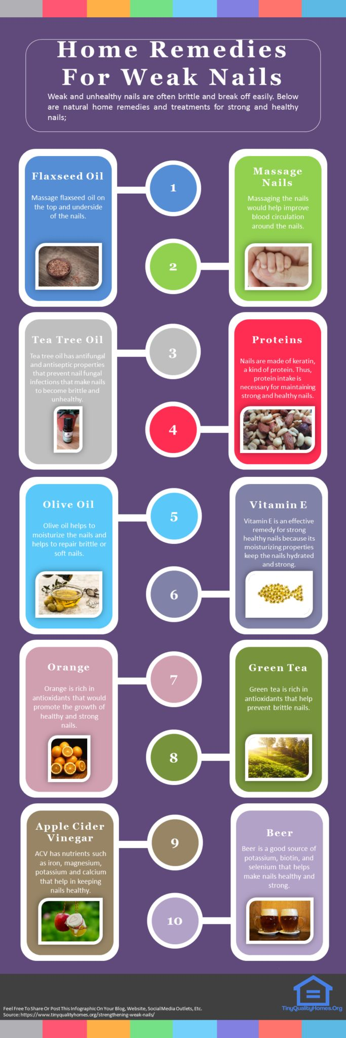 18 Natural Home Remedies And Treatments For Strengthening Weak Nails Infographic: This Article Discusses Ideas On The Following; How To Strengthen Nails Home Remedy, Best Nail Polish To Strengthen Nails, Strengthen Nails Vitamin Treatment, How To Strengthen Nails And Make Them Grow, How To Harden Nails Instantly, How To Make Nails Stronger And Thicker, How To Strengthen Nails After Acrylics, Diy Nail Strengthener, Weak Nail Causes, How To Fix Weak Nails, Etc.