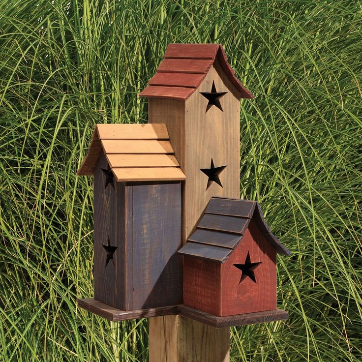 Amish Duck Houses : Amish primitive trio birdhouse gifts for him