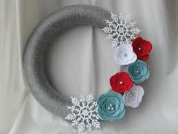yarn winter wreaths