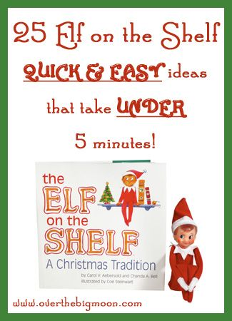 Ideas that take under 5 minutes, are still cute, and wont require 45 minutes clean up time on your part!