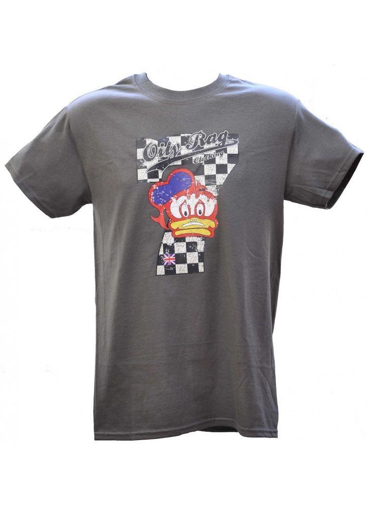 Barry Sheene Oily Rag Legend Num 7 Duck logo T-Shirt Classic Motorcycle Size M