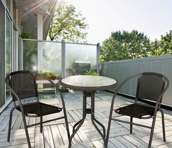 Details About Garden Bistro Set Table Chairs Outdoor Patio Furnitures Set  For Terrace Balcony