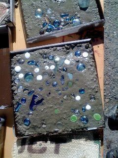 Making Concrete Stepping Stones With Preschool Children Using Pizza Boxes  As Moulds And Child Collected U0027treasuresu0027 For