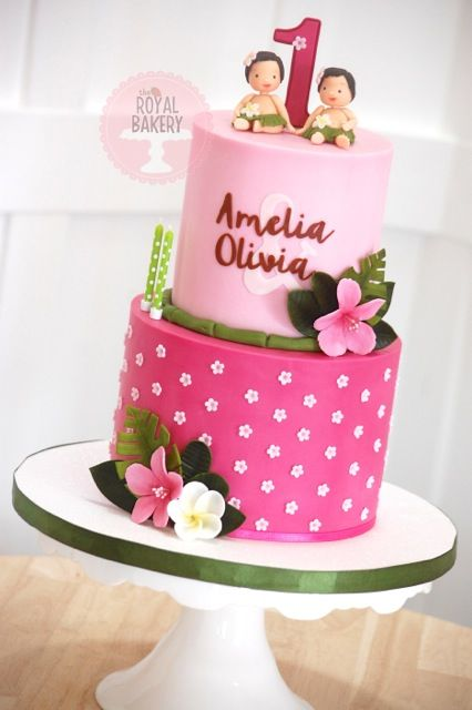 573 best images about tropical cakes on pinterest hawaii for Decorating 1st birthday cake