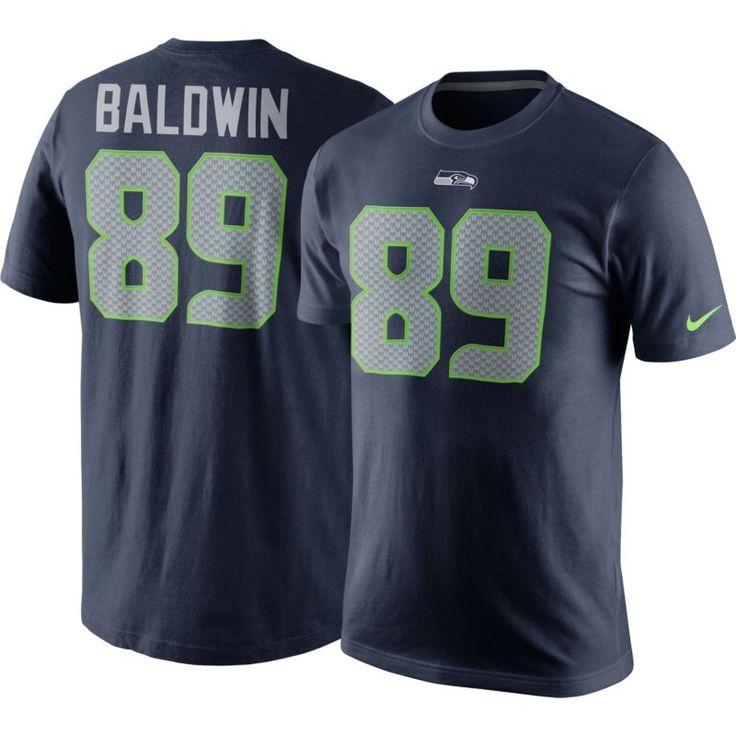 Nike Men's Seattle Doug Baldwin #89 Pride Navy T-Shirt, Size: Medium, Team