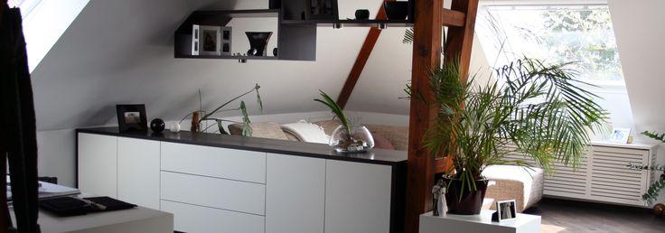 Sideboard schwarz/weiß aus Holz