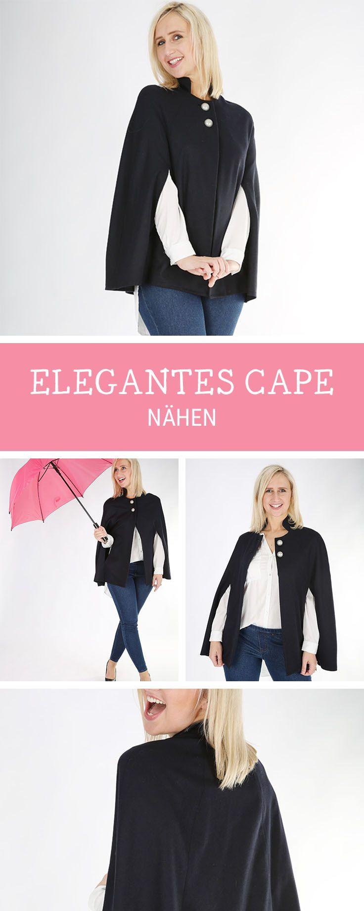 Nähanleitung für ein angesagtes Cape mit oder ohne Kragen / fashion diy: sew your own oversize cape via DaWanda.com