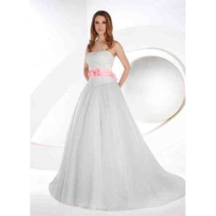 Wedding Dress With Pink Sash