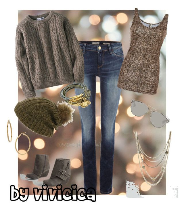 """""""fall staple look"""" by vivicica on Polyvore featuring GUESS, Blowfish, Uniqlo, BKE, Pieces, Maison Scotch, Christian Dior, Bony Levy and Bee Charming"""