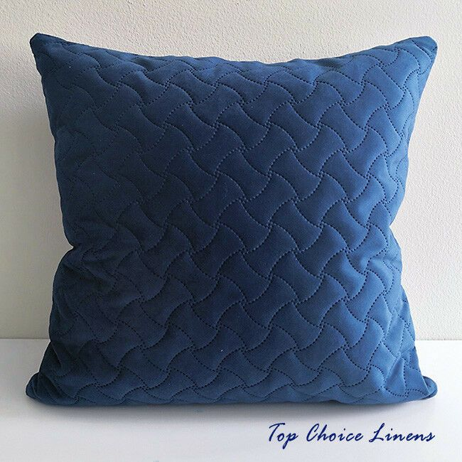 Velvet Geometric Quilted Cushion Cover