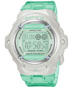 I want this watch     @Overstock.com - This timepiece is made of resin with stainless steel caseback Women's sport watch features a LCD dialBaby-G watch has a green band color and green facehttp://www.overstock.com/Jewelry-Watches/Casio-Baby-G-Womens-Green-Jelly-Watch/2689309/product.html?CID=214117 $73.99