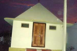 Sri Lakshmi Narasimha Pyramid Meditation Center year of construction : 2012 size : 10ft x 10ft (land pyramid) | capacity : 15 persons cost incurred :  80,000 | type of structure : RCC timing : 5AM - 8AM, 6PM - 10PM, open for public use technical person : K Lakshmi Narasaiah contact : Thirupathi, mobile : +91 97012 43280 address : Vemulakurthi, Ibrahimpatnam, Karimnagar http://pyramidseverywhere.org/pyramids-directory/telangana/karimnagar-district