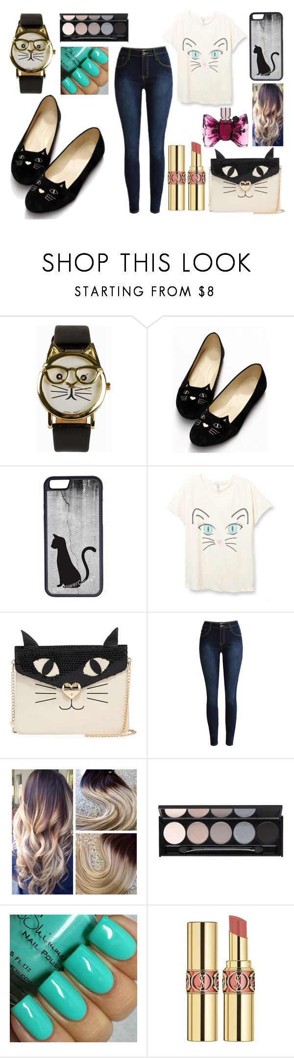 """""""Cat Crazy"""" by penelopejohnson24 on Polyvore featuring JFR, CellPowerCases, Betsey Johnson, Witchery, Yves Saint Laurent, Viktor & Rolf, women's clothing, women's fashion, women and female"""