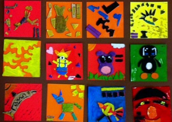 Project De Oudheid op basisschool De Vuurvogel in Gouda. Vandaag hebben we les gehad over de oude beschaving: de Maya's. De Maya's hadden een schrift, dat bestond uit symbolen en tekens, die in een reeks werden geplaatst op papier, gekerfd in hout of steen. We noemen ze glyphen. Geïnspireerd door deze glyphen heeft groep 6/7 zelf een reliëftegel gemaakt.