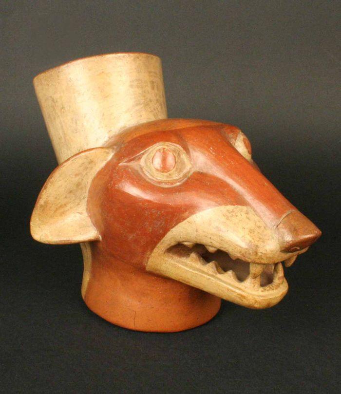 Museo Chileno de Arte Precolombino » Cabeza zoomorfa: zorro