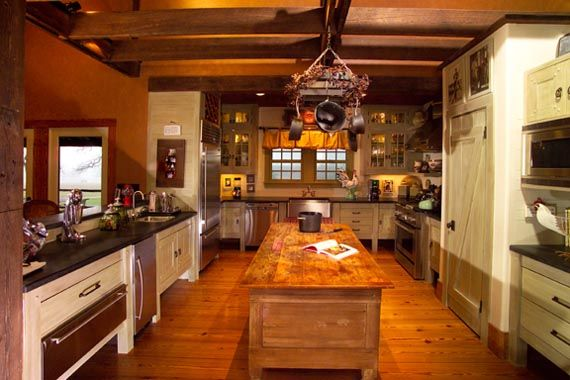 Kitchen in Party barn home.