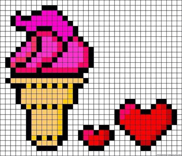 Pixel Art Nourriture Gateau
