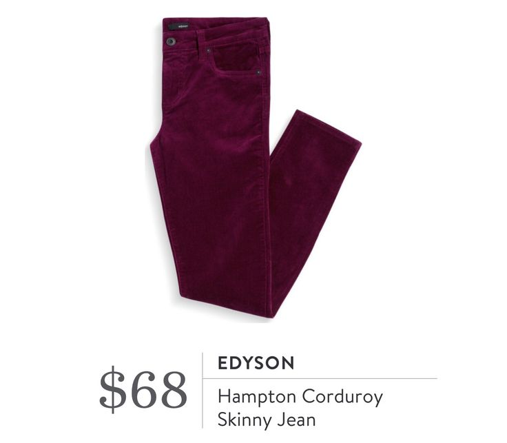 Edyson Hampton Corduroy Skinny Jean. I love Stitch Fix! A personalized styling…