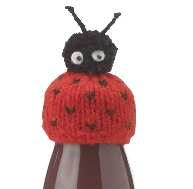 Ladybird smoothie hat, free knitting pattern for Innocent big knit campaign