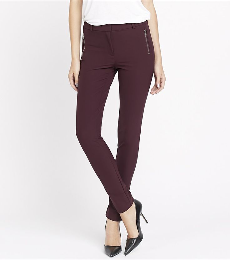 Skinny Pants with zipper (also in black). For work and after work!  #SwishList #ChristmasGiftIdeas
