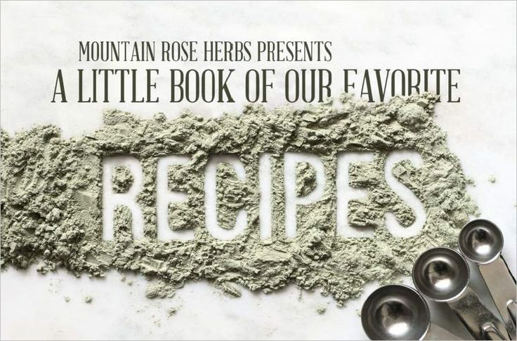Free Download! Herbal Recipe e-Book from Mountain Rose Herbs.