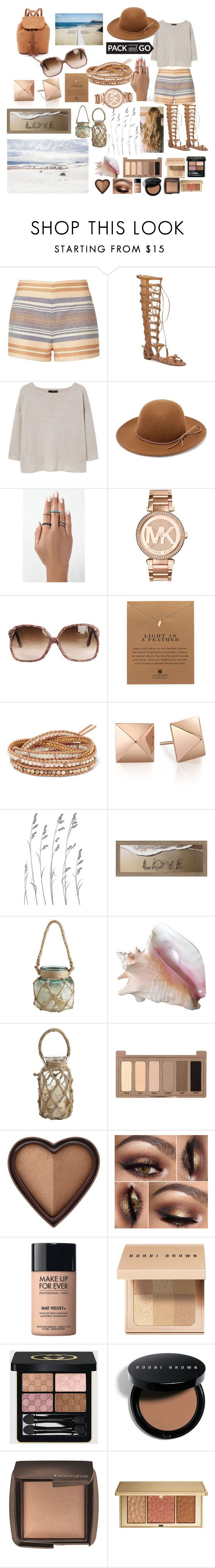 """pack&go mexico"" by manderzlmao ❤ liked on Polyvore featuring Solid & Striped, Vince Camuto, MANGO, RHYTHM, Michael Kors, Dogeared, Chan Luu, Dot & Bo, Pier 1 Imports and Urban Decay"
