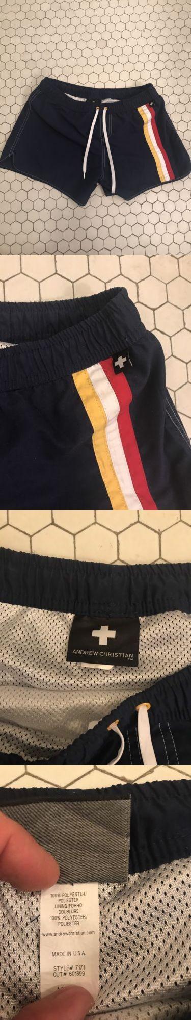 Swimwear 15690: Andrew Christian Men S Swimwear Trunks M Medium Luxury Sport Cruise -> BUY IT NOW ONLY: $36.69 on eBay!