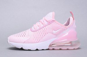 72d8bc0893 Womens Winter Nike Air Max 270 Flyknit Sneaker Cherry pink white ...