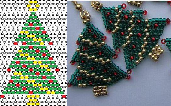 beading peyote stitch christmas treeearrings
