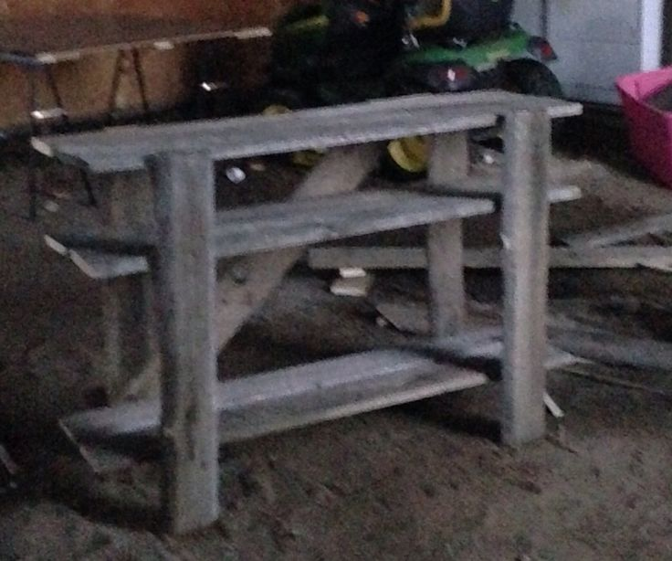 My other custom made shelf o made out of old barn board