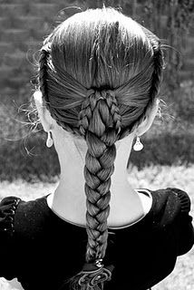 braids --  you need pretty long hair to be able to do this.