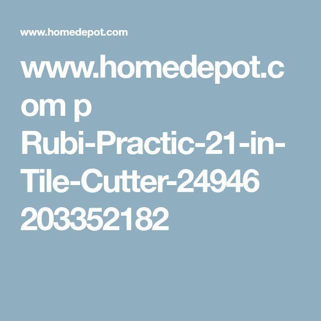 www.homedepot.com p Rubi-Practic-21-in-Tile-Cutter-24946 203352182