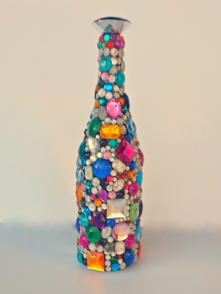 17 best images about colorful wine bottles on pinterest for Colored bottles for decorations