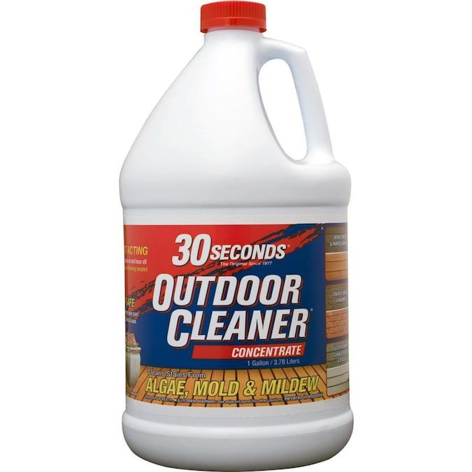 30 Seconds 1 Gallon Multi Surface Concentrated Outdoor Cleaner Lowes Com In 2020 Outdoor Cleaners Mold Remover Mold And Mildew