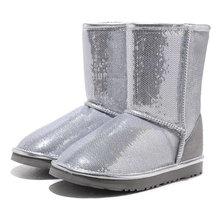 UGG Classic Short Sparkles 3161 Boots Silver