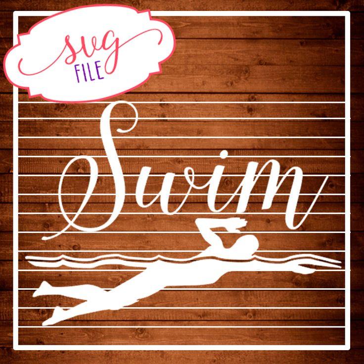 Svg Swim Swimmer Cut File Svg Dxf Files Silhouette
