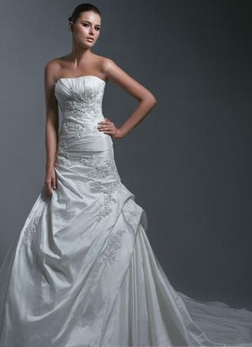Empire Strapless Chapel Bridal Gown