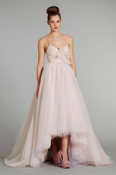 A pink #wedding dress from Blush, Fall 2012